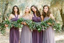 Bridesmaids & Feminine: Lavender and Purple / Lovely bridesmaid dresses from lavender to purple.  #wedding #bridesmaid #bridesmaiddress #lavenderbridesmaiddress #purplebridesmaiddress