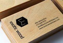 tarjetas madera