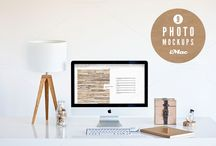 Mock ups / Present your work better with special photo mockups collection stylish, classy and color consistent scenography. Show your web // desktop app // artwork // website template // project in a beautiful environment