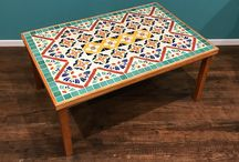 Tables ideas / This is a collection of tables decorated with ceramic tiles. Not something you would think about initially, but hopefully this inspires you to add a little color to your home.