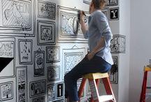 Ilustrações para paredes
