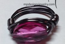 Rings / Wire wrapped rings to inspire and from MP Designs Jewelry / by MP Designs Jewelry