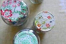tapas de frasco decoradas