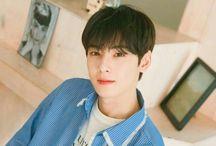 ASTRO ♡ / Members; Jinjin, Eunwoo, Rocky, Moonbin, Sanha, MJ.  Bias: JinJin and Eunwoo
