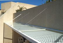 Suspended awnings