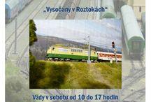 Železniční akce - letáky / Letáky na pořádané železniční a modelářské akce