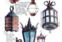 fenerler  lambalar aplikler  abajurlar.