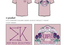 Recruitment / Greek sorority and fraternity custom shirt designs featuring recruitment themes. For more information on screen printing or to get a proof for your next shirt order, visit www.jcgapparel.com