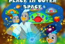 Visit Alooks Cool Home in Outer Space. / Lots of fun working on my next book,this is about Alooks special home filled with a splash of magic on the tiniest star in the universe.  With his family and a pet dragon.  Coming out soon.  www.koolamundo.com