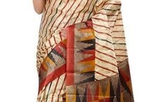 Printed Saree With Blouse 450 INR / Beautiful Silk Printed Saree with Blouse. It has printed work on it which gives a beautified look to you,Silk, printed designing work on it with half sleeves blouse. bit.ly/1M9eARi