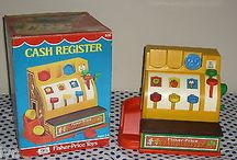 1974 NEAR MINT CONDITION FISHER PRICE CASH REGISTER WITH BOX-SEE!!