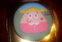 Pou birthday cake