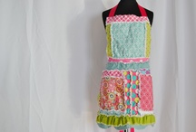 Aprons / Everyone needs an apron.  Here are some fun apron ideas (both patterns, tutorials, and ready to purchase ones / by Bobbie A Vision to Remember