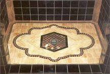 Tile inlay work