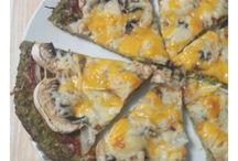 pizza con masa de brócoli o coliflor