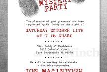 Murder mysteries party
