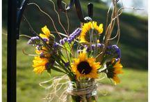 bouquet champetre dans vase