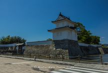 Akō Castle Ruins in Akō City, Hyōgo Prefecture. / This castle, constructed on low land near the shore, took 13 years to complete under the direction of Asano Naganao (浅野 長直). It was built in preparation for war and the complex twists and turns of the moats and stone path. After the story of Chushingura (忠臣蔵), Mōri clan (毛利氏) was moved in this castle. Asano Naganao (浅野 長直, 1610 – September 15, 1672) was a Japanese daimyo of the Edo period, who ruled the Akō Domain.