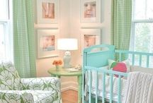 mint green & baby blue baby room