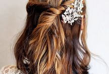 Wedding Prep / bridemaids- To pin pics in prep for your hair and makeup! / by Samantha Walker