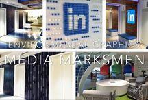 LinkedIn's Environmental Graphics / A recent job done for LinkedIn Toronto.