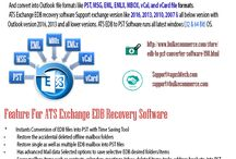 Free Exchange Server Recovery Software / Download free Exchange EDB Recovery Software. ATS Exchange EDB to PST converter is very impressive software which has multiple useful features that make conversion process better for its user. ATS EDB to PST converter gives option of free trial version facility by which you can smoothly check/test productivity of the software. Recover Exchange EDB database file export  EDB to PST, MSG, EML, EMLX, MBOX, vCard, vCal and office 365 etc. ATS EDB to PST Converter support all latest Exchange Server.