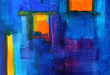 Color? -Yes please! 2 / Colorful art, mostly abstract. The way I like it! / by Lena Malmstrom