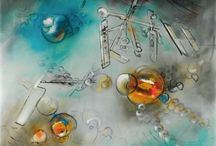 Roberto MATTA / Roberto Matta is an important member of Surrealism's second period. He did not think of himself as a painter, but rather as an architect or astrophysicist; painting was the means by which one accomplished something, the tool to be used.  He would play a decisive role in influencing young American painters in the forties, especially Abstract painters.