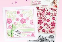 Brand CC: Sara Davies / These are not my projects.  They are beautiful projects created by very talented artists using Sara Davies dies, stamps, stencils & supplies produced by Crafters Companion.