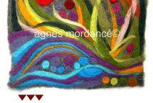 Agnès Mordancé© - Work / Agnès Mordancé créations textiles Paris pièces uniques avec copyright © - reproduction interdite