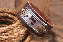leather cut bracelet