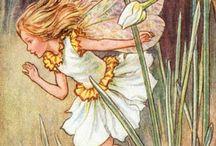 Illustraties en tekeningen van Cicely Mary Barker / Cicely Mary Barker (Croydon, 28 juni 1895 - Worthing, 16 februari 1973) is de illustratrice van de zeer bekende Flower Fairies. Van kindsaf was ze zeer geïnspireerd door Kate Greenaway.
