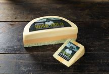 Irish Gold Cheese by Windyridge Cheese Ltd / Irish Gold Cheese - Layers of Cheddar, Double Gloucester and Cheddar with Sage to look like the Tri-Colour, by Windyridge Cheese Ltd