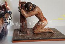 jesus christ / Rappresentazione del flagello di Gesù creata a me e dipinta a mano