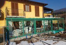 Verande e giardini d'inverno / Le nostre realizzazioni di verande e giardini d'inverno con tetto a vetro o tipo tegola