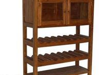 Teak Minimalist Rack & Bookshelf