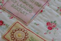 Quilt Labels / I've got no embroidery experience whatsoever. On this board I want to pin tutorials and other advice that will help me to master stitches that I can use to write my quilt labels.