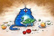 Cute blu cat