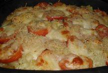 gratin  de courgettes  pommes  de terre  et tomates  mozarrela  herbes  de Provence