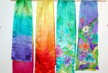 Scarves / Hand painted and felted scarves