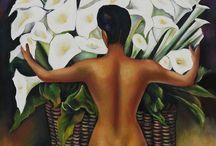 Diego Rivera / Diego Rivera, né le 8 décembre 1886 à Guanajuato (Mexique) et mort le 24 novembre 1957 à San Ángel (en) (un quartier aisé de Mexico), est un peintre mexicain. Bien qu'il ait tout au long de sa vie pratiqué la peinture de chevalet, Rivera est mondialement connu pour ses peintures murales, réalisées au Mexique, principalement à Mexico, et aux États-Unis. Ses peintures murales sont indissociables de ses convictions socialistes et de sa fascination pour le passé préhispanique du Mexique. (wikipedia)