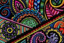 Zentangle Color Patterns / by DEBRA NOOTH