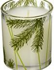 Lukshops  High Quality Products / Fir Poured Candle with Decorative Glass