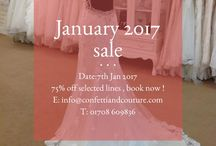 January 2017 sale / Wedding dress sample sale
