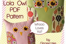 Owl Love / Why are they so irresistable? Because they are easy to applique, and gender neutral, and anything fluffy with huge eyes is easy to love.
