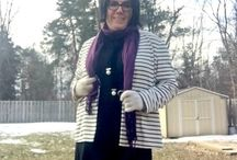 COTD Style Challenge: Crazy Stripes and Purple
