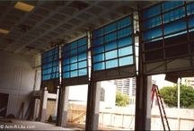Commercial Glass Garage Doors / Exclusively welded aluminum frame glass garage doors for commercial applications