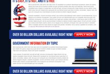 government grants landing page design