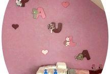 Nos créations artisanales chez vous / Un petit aperçu en image de nos créations dans la chambre de bébé.Le résultat est superbe.:-)