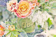 Pretty & Twee Wedding / Wedding inspiration board with a pretty floral overload.